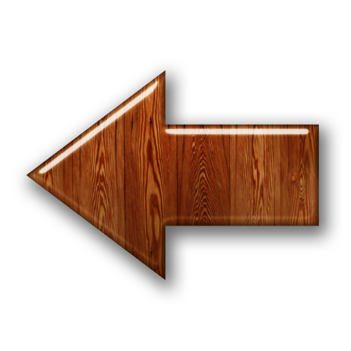 PNG File 008350 Glossy Waxed Wood Icon Arrows Arrow Thick L